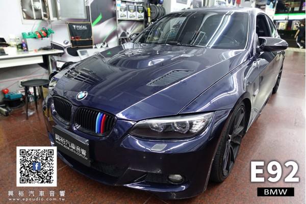 【BMW E92】安裝 E92專用10.25吋安卓機 | DynaQuest DVR-122 前後行車紀錄器電子後視鏡