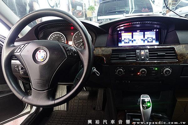 【BMW E60】2004年E60 安裝 專款8.8吋安卓機 | 專用行車紀錄器 | 把手型倒車鏡頭
