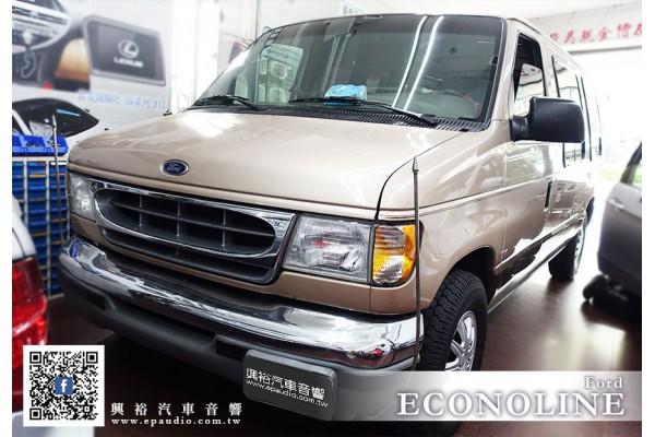 【Ford ECONOLINE 】安裝 Pioneer AVIC-F7500T螢幕主機+數位電視+19吋螢幕+手機WiFi介面+卡拉OK伴唱機組