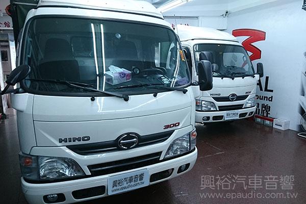 【HINO】300大貨車  安裝 後視鏡螢幕   倒車