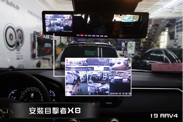 【TOYOTA RAV4】19RAV4 安裝目擊者X8 + 後座平板螢幕 + 手機鏡像