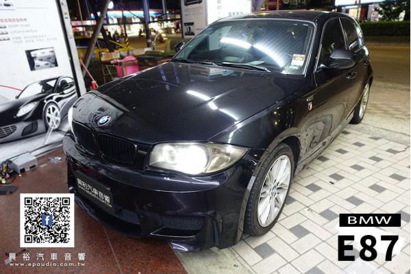 【BMW E87】安裝 E87專用10.25吋安卓機 | Mio C570D頂級夜視前後鏡頭 GPS行車記錄器  | 征服者全頻測速器
