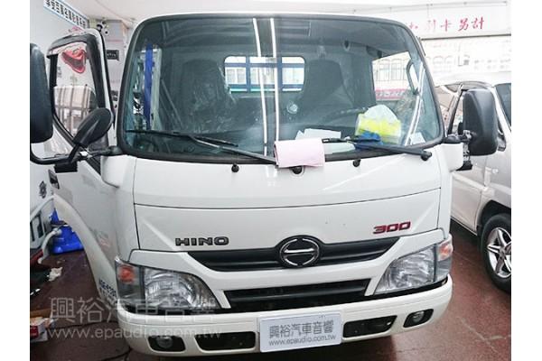 【HINO】300大貨車  安裝 螢幕主機 |  數位