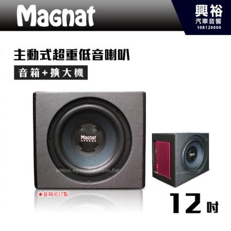 【Magnat】12吋主動式單孔超重低音喇叭400W*含音箱(可訂製).擴大機