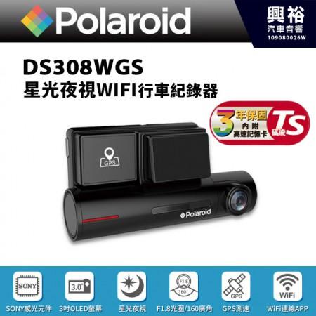 【Polaroid】寶麗萊 DS308WGS星光夜視WiFi行車紀錄器*TS碼流/SONY感光元件/3吋觸控屏/160度廣角/GPS測速警示